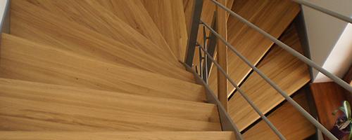 schody dřevo ocel